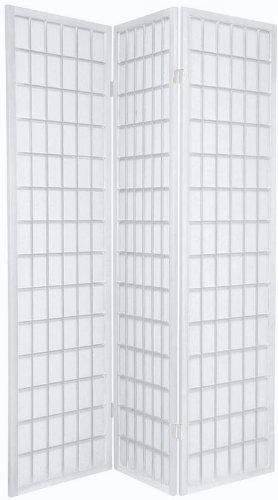 BlueBoxInnovations TOKYO White Handmade Wood and Paper 3 Pane Room Divider/Splitter Screen