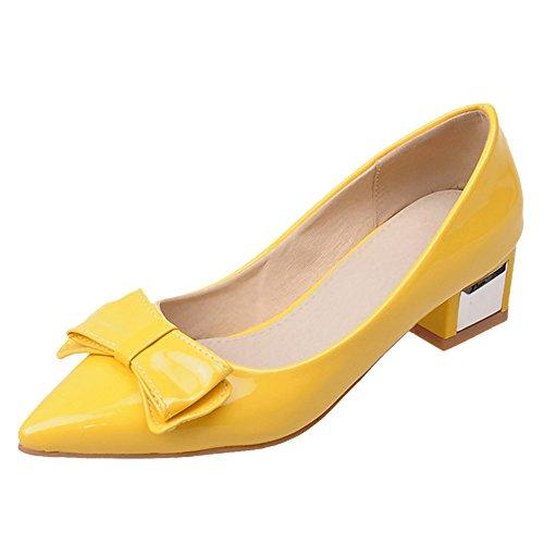 Mode yellow JOJONUNU Escarpins Femmes Pointu 80fxqY5