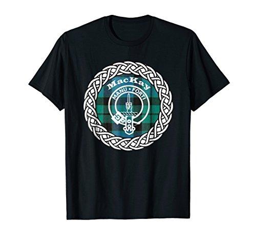 Mackay surname Scottish clan tartan crest badge t-shirt
