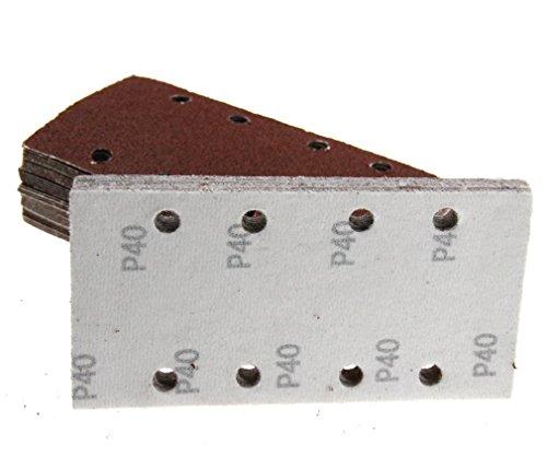 50 93 mm x 185 mm Haken & Schleife 8 Löcher Körnung gemischt Schleifen Schleifpapier Blatt Pads