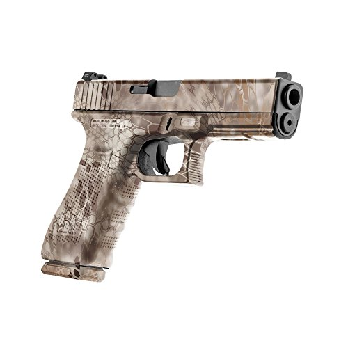 GunSkins Pistol Skin Camouflage Kit DIY Vinyl Handgun Wrap with precut Pieces (Kryptek Nomad) ()