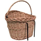 Wicker Shopping Basket For Bicycle