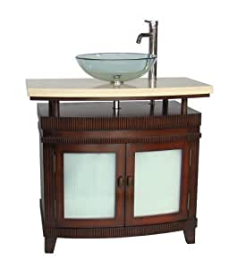 "36"" Vessel Sink Arturas Bathroom Vanity - Faucet & vessel"