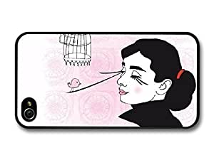 AMAF ? Accessories Audrey Hepburn Shabby Chic Birds case for iPhone 4 4S by icecream design