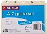 "Smead Card Guide, Plain 1/5-Cut Tab (A-Z), 6""W x"