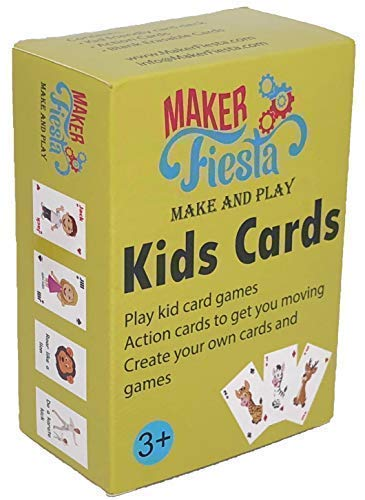 Maker Fiesta Kids Cards - Old Maid, Go Fish, Math Facts Games and Create Your own Games Using 32 Blank erasable Cards with 1 Deck. Ages 3 to 13 ()