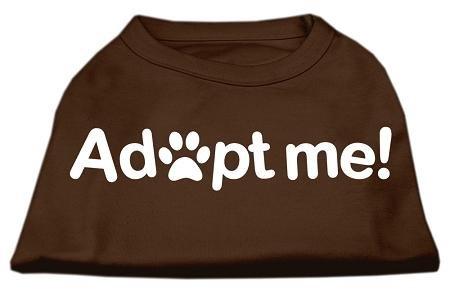 Mirage Pet Products Adopt Me Screen Print Shirt, Large, Brown