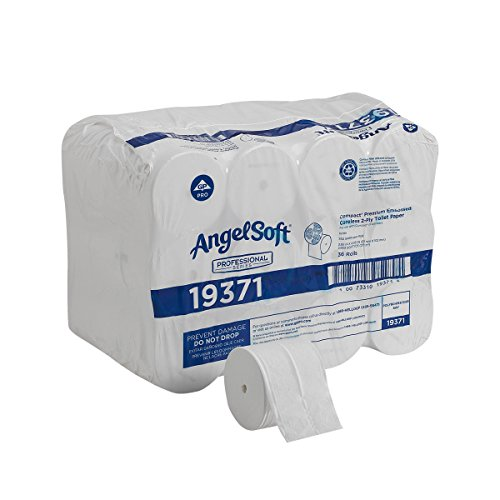 Angel Soft Professional Series Compact Premium Embossed Coreless 2-Ply Toilet Paper by GP PRO (Georgia-Pacific), 19371, 750 Sheets Per Roll, 36 Rolls Per Case ()