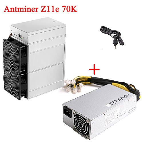 Price comparison product image Antminer Z11e 70K Sol / s Bitmain Z11e ZEC Equihash Zcash Asic Miner Include APW3++ PSU and Power Cord