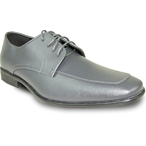 Allure Men Dress Shoe AL01 Fashion Tuxedo for Wedding, Prom and Formal Events with Wrinkle Free Material-Wide Width Available Steel Grey