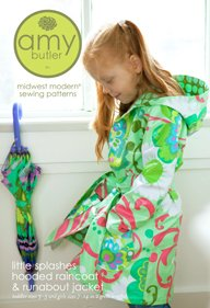 Amy Butler Little Splashes Children's Hooded Raincoat and Runabout Jacket Sewing Pattern
