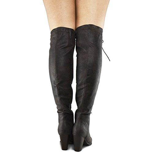 Forever Länkar Camila-48 Lady Boots Blk Premier Brun