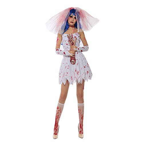 Halloween Costumes Women's Ghostly Bride Bloody Mary Adult (XL) - Corpse Bride Plus Size Costumes