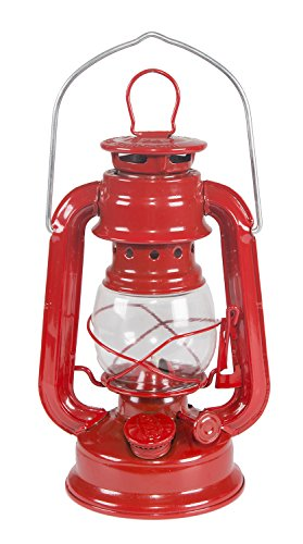 Stansport Small Hurricane Lantern (Red, 8-Inch) ()