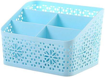 Multifunktionaler Desktop-Organizer, aufgeräumter DIY-Schreibtischschrank mit 5 Gittern, Platz für Stifte, Kosmetika und andere kleine Gegenstände (19 * 12 * 13,5 cm, blau)