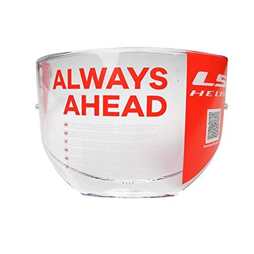 (LS2 Valiant Helmets Visor FF399 Unisex-Adult Flip Up Helmet Modular Helmets Replacement Face Shield (Clear))