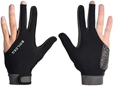 Juntful Hombre Mujer Elástico Lycra 3 Dedos Mostrar Guantes para Billar Cazadores Billar Francés Piscina Taco Billar Deporte - Ropa en la Derecho o Mano Izquierda ...