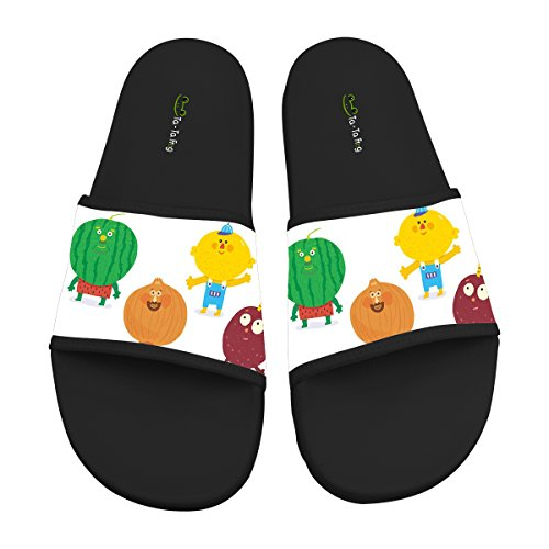 TA-TA FROG Vegetable Fruit Fashion Slide Sandals Indoor & Outdoor Slippers