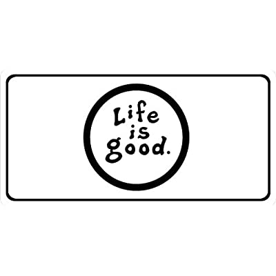 Life is Good Photo License Plate: Automotive
