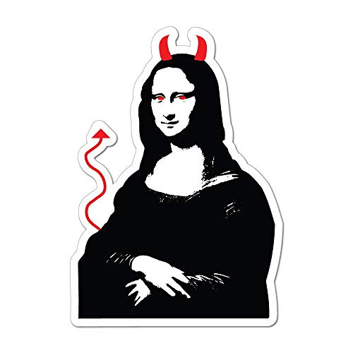 Mona Lisa Parody Art Funny The Joconde Famous Devil Car Sticker Decal