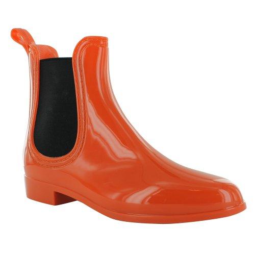 Footwear Sensation - Botines chelsea mujer Naranja - naranja