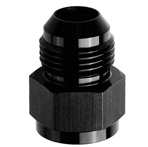 10AN Female to 8AN Male Flare Reducer/Extender Union Fuel Hose Line Fitting Adapters Aluminum Anodized Black ()