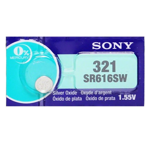 Sony 321 (SR616SW) 1.55V Silver Oxide 0%Hg Mercury Free Watch Battery (20 (321 Maxell Watch Battery)