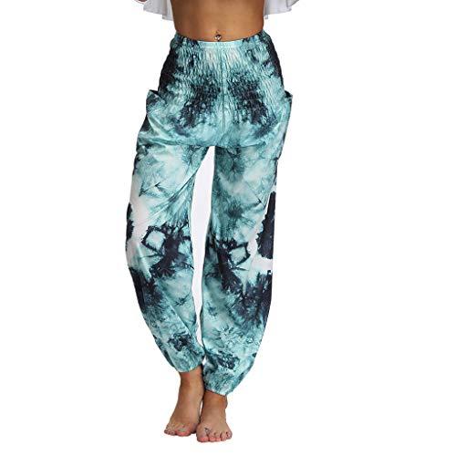 CCOOfhhc Men&Women's Harem Pants Bohemian Clothes Boho Yoga Hippie Pants Smocked Waist Casual Loose Stretchy Flowy Pants - Dress Sweater Smocked