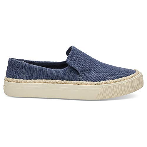 TOMS Women's Sunset Cadet Blue Heritage Canvas 11 B -
