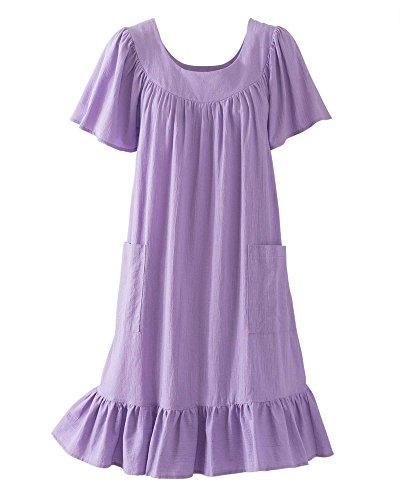 National Crinkle Cotton Dress, Lilac, Medium