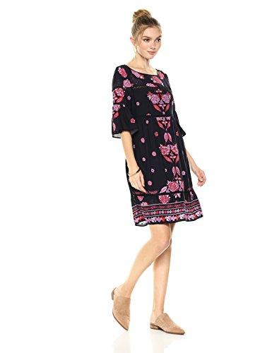 Womens Flutter Sleeve Dress - 2
