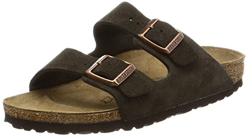 Birkenstock womens Arizona in Mocha from Leather Sandals 39.0 EU N