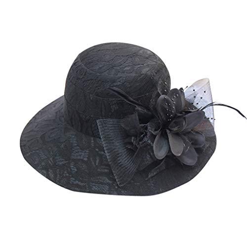 Women's Church Kentucky DerbySignature Ball Cap Party Wedding Hat Black