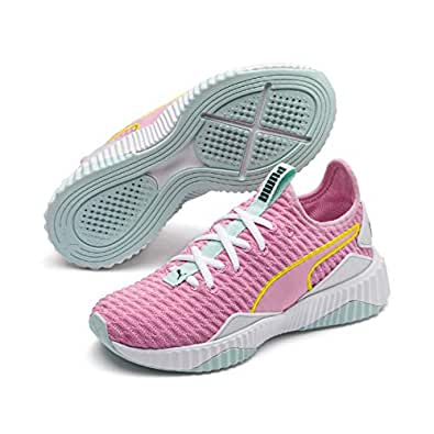 PUMA Kids DEFY PS Sneaker, Pale Pink-puma White-fair Aqua, 1 US
