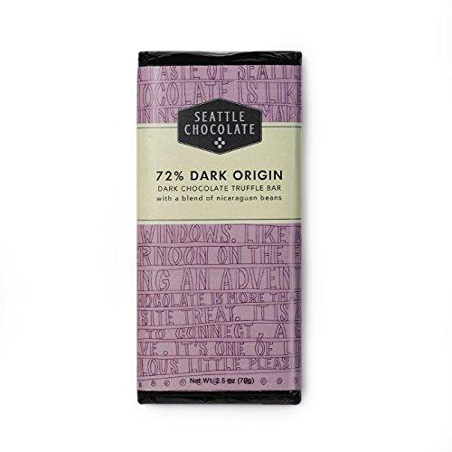 Seattle Chocolates, Dark Chocolate Bar, 2.5 oz ()