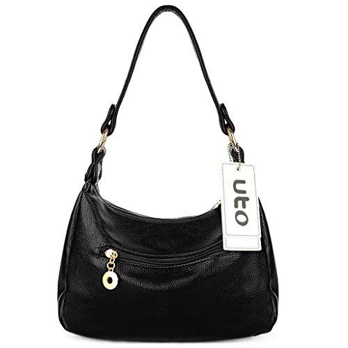 Doux Style et UTO Noir Chic en Noir Bandoulière Chouette Similicuir Epaule Sac Femme Porté 1 FwqF7R8