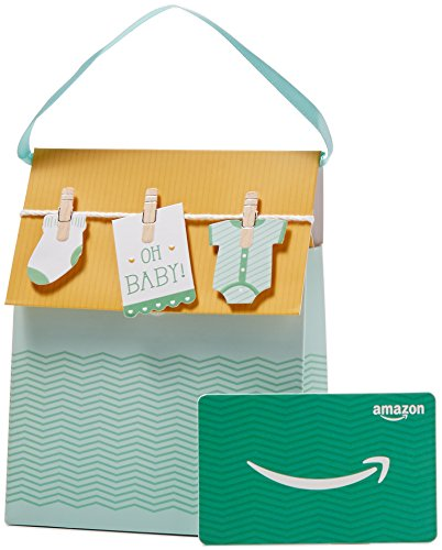 Amazon.com Gift Card in a Baby Onesies Gift Bag