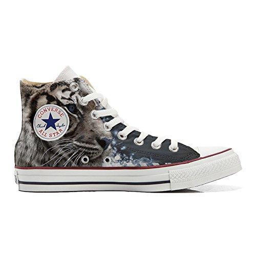 Azules Star Los All Zapatos Handmade Ojos producto Tigre Personalizados Converse z4nqxvn