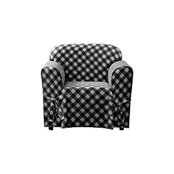 Amazon Com Surefit Buffalo Check 1piece Chair Slipcover
