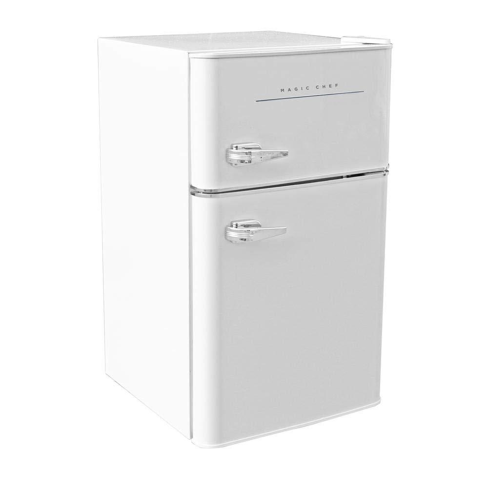 60dc4dec3ae Amazon.com  Magic Chef Retro Mini Refrigerator 3.2 cu. ft. 2-Door Fridge in  White  Appliances