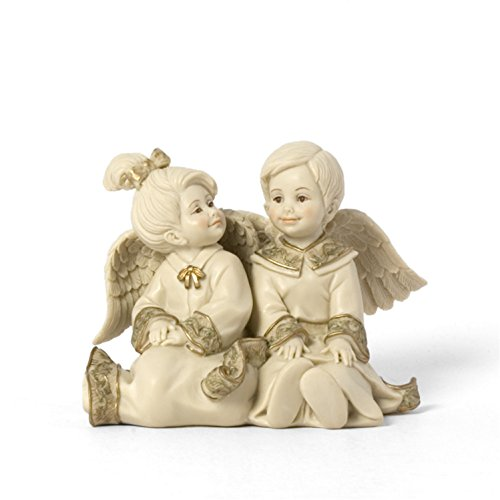 Sarah's Angels Tapestry Series Boy and Girls Angels Figurine, 3-1/2 Inch - Boy Angel Figurine