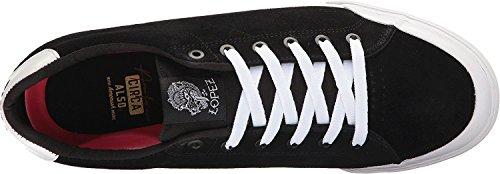 C1RCA - Zapatillas de skateboarding de Piel para hombre Negro black/ white/ white