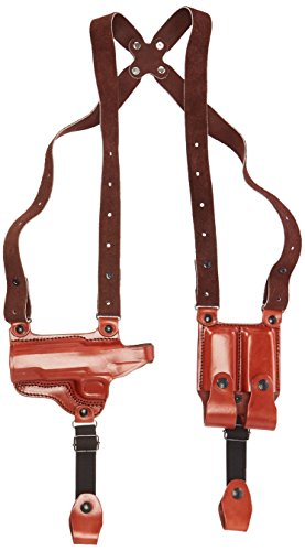Tagua SH4-218 Full Slide Shoulder Holster, 1911 -5'' Cocked & Locked, Brown, Left Hand by Tagua