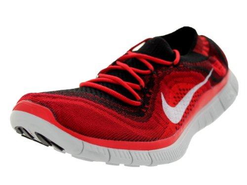 Nike Libero Flyknit + Mens Scarpe Da Corsa Nero / Bianco / Rosso Palestra / Unvrsty Rd