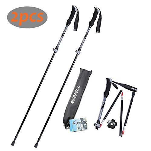 Yahill On Sale Folding Trekking Pole Collapsible Stick