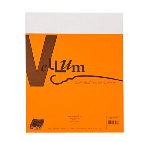 Grafix 29-Pound 8-1/2-Inch by 11-Inch Vellum, 50-Pack, Parchment