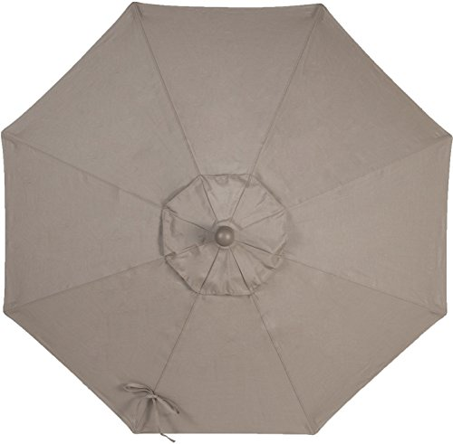 9ft 8 ribs market umbrella replacement canopy sunbrella taupe patio furniture covers. Black Bedroom Furniture Sets. Home Design Ideas