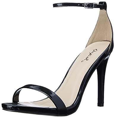 Qupid Women's Grammy-01 Dress Sandal Black- 5.5 B(M) US