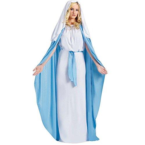 Fun World Costumes Women's Adult Mary Costume, Blue, -