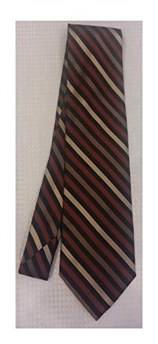 - Stafford Essentials Red, Tan, Black, and Brown Silk Necktie